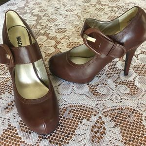 Madeline Girl brown heels with buckle